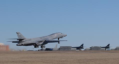 B-1 takeoff