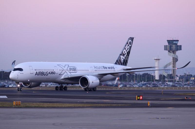シドニー着陸のA350