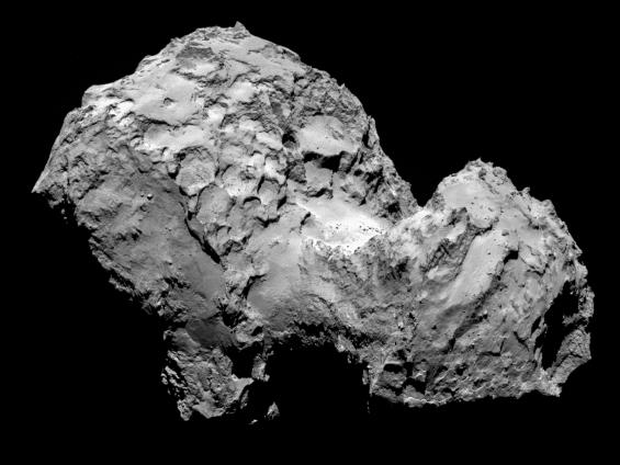 ロゼッタ撮影の彗星