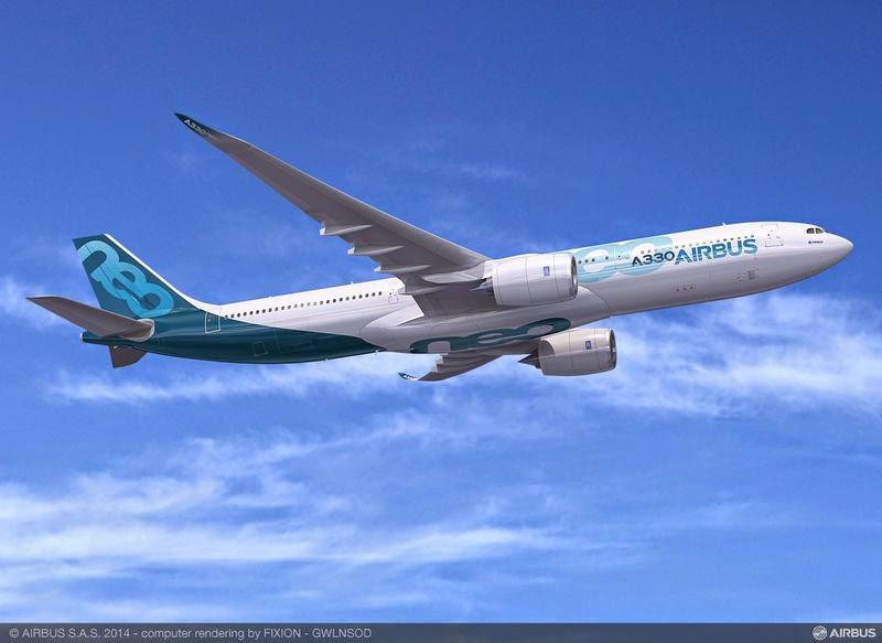 A330neoの完成予想図