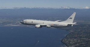 P-8I Indian Navy B1 First Flight Air to Air P65458-02