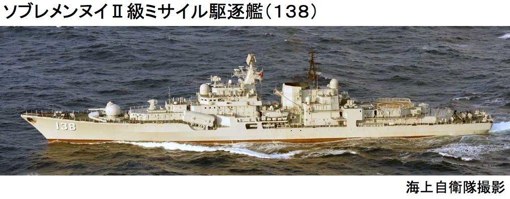 ソブレメンヌイII級ミサイル駆逐艦138