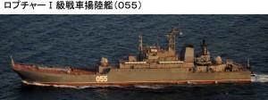 16日ロプチャーI戦車揚陸艦055