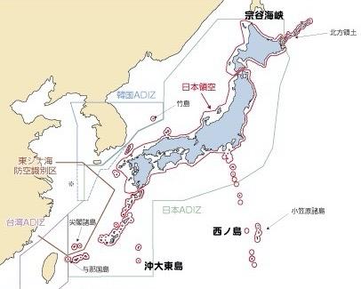 日本領海ADIZ