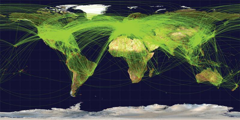 1定期航空路線網
