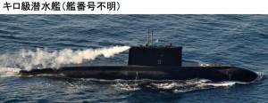 キロ潜水艦21日