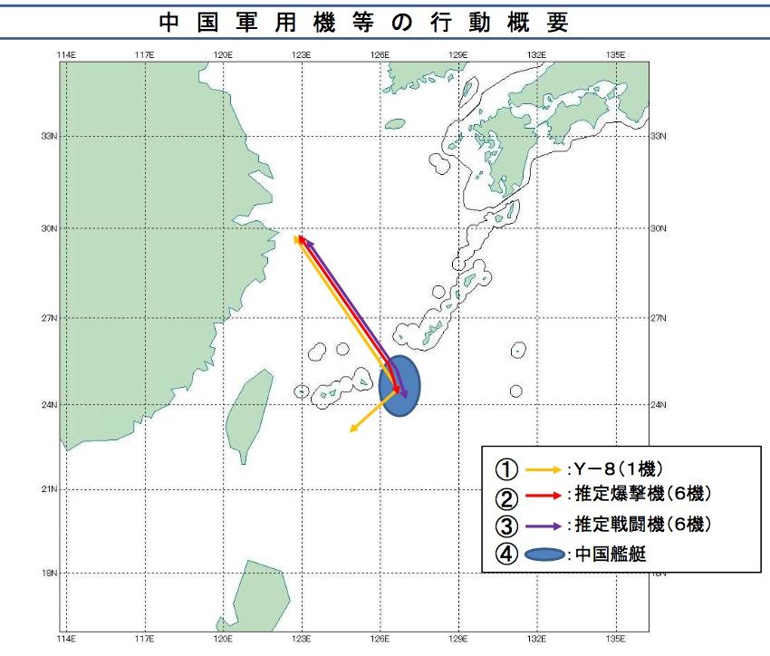 3月2日中国軍機と艦艇