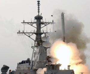 イージス艦から発射