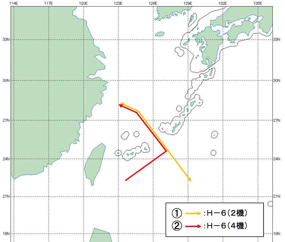 07-13 中国H-6航跡