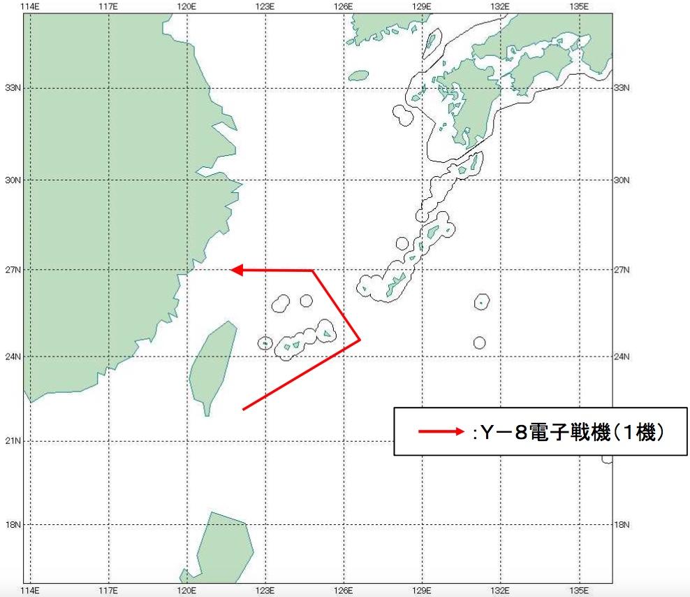 08-09 Y-8電子戦機航跡