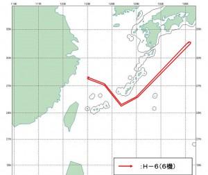 08-24 中国H-6航跡