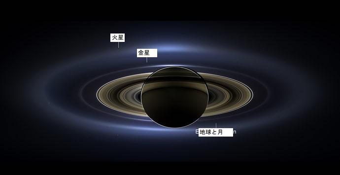 土星のリング全体
