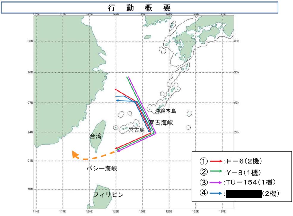 04:26 中国軍機航跡