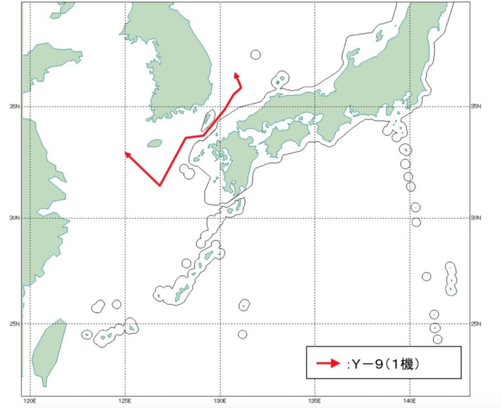 10-29 中国機Y-9航跡