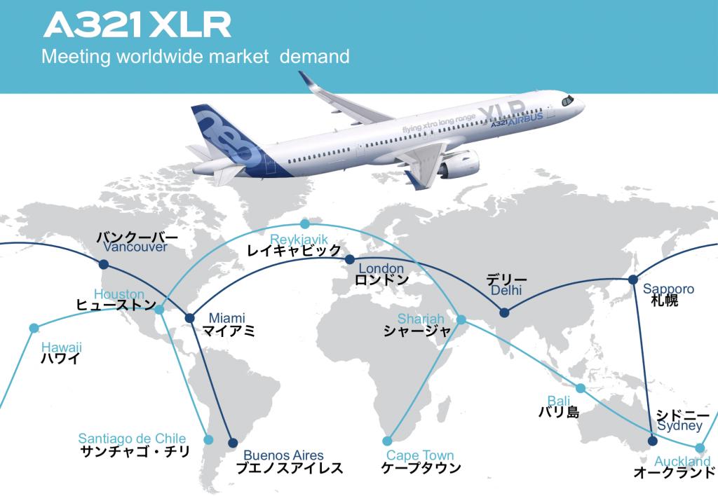 A321XLR就航可能路線