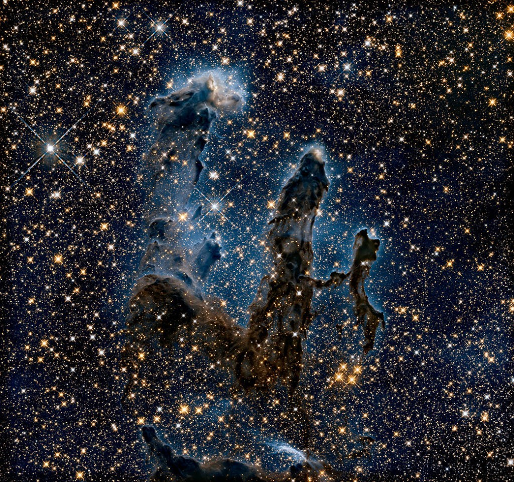 New view of the Pillars of Creation — infrared