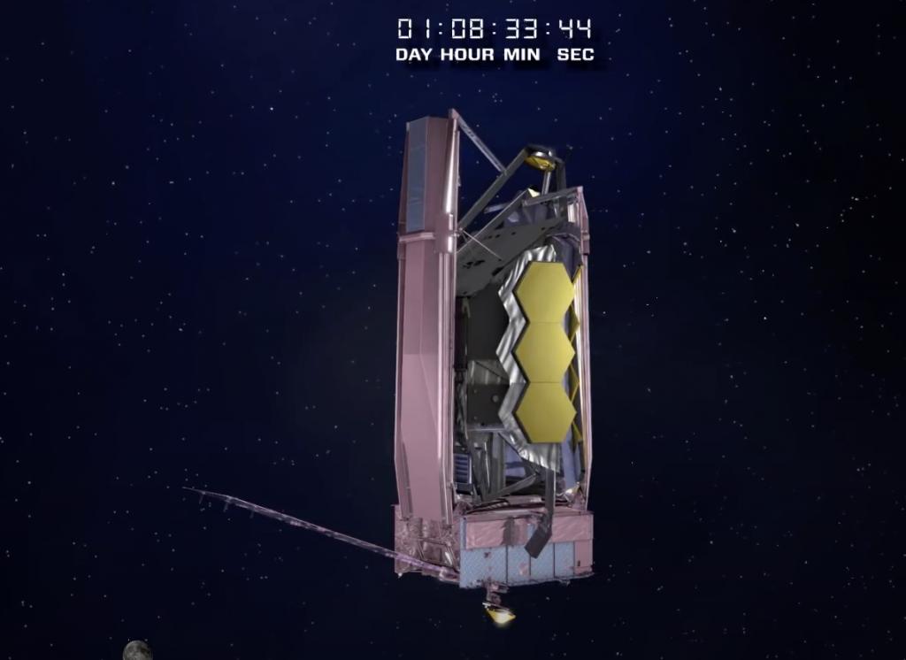 1時間8分後アンテナ展張