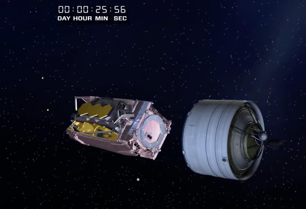 26分後望遠鏡分離