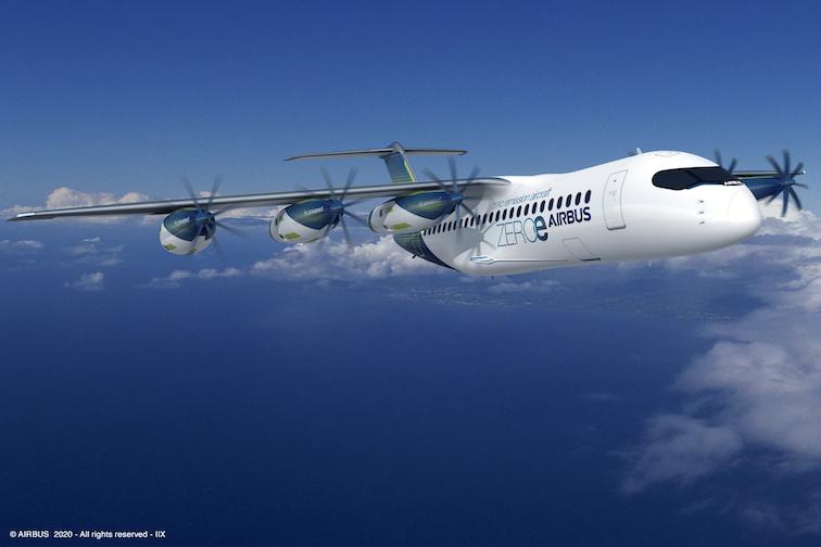 燃料電池ポッド付き旅客機