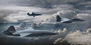 F-15と編隊を組むATS