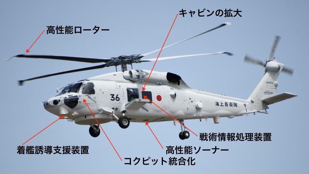 SH-60K改良箇所